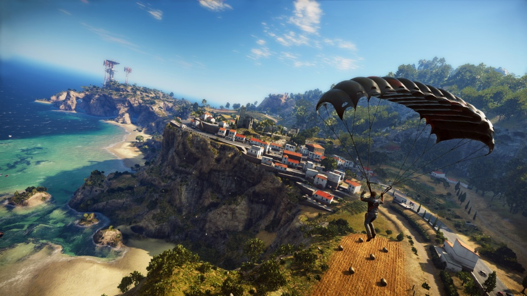 Parachute_over_town_1