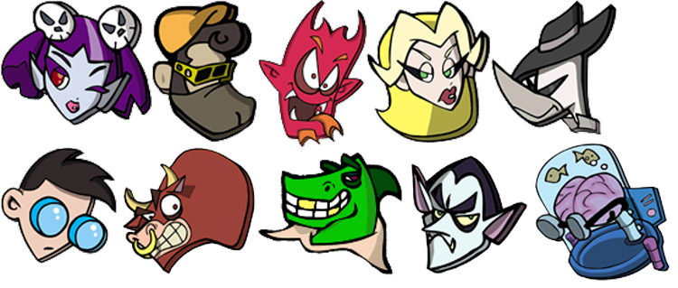GameCube-Cel-Damage-Character-Icons