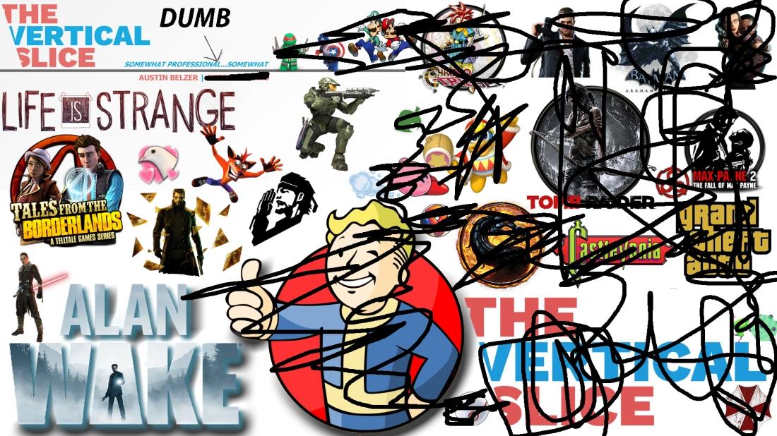 The Vertical Slice Game Logo Collage JOKE