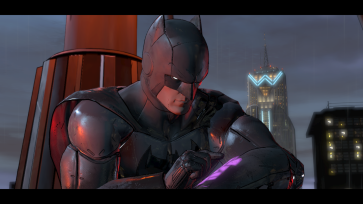 """Oh, DAMN IT!! I forgot to tape the game!!"" The real tragedy in a superhero's life, the moment you realize Alfred still has no idea how to program the Bat-DVR."