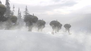 snow-ostriches