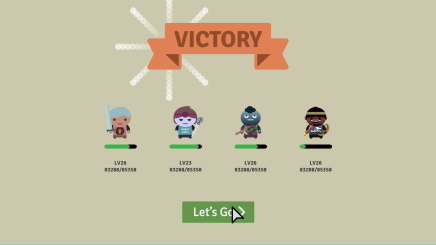 victory screen