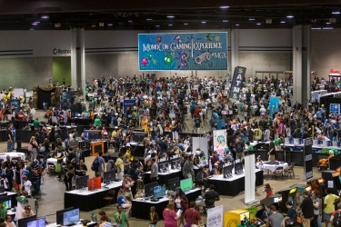 Gamers play video and tabletop games in the largest gaming hall in the southeast during MomoCon 2015 at the Georgia World Congress Center on Saturday, May 30, 2015 in Atlanta. The MomoCon Gaming Experience took place in Hall A3 at 105,000 square feet. (Paul Abell / AP Images for MomoCon)