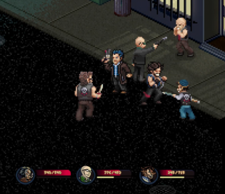 Pixel noir screenshot fight